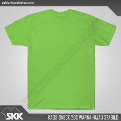 Kaos-polos-combed-20s-Hijau-Stabilo