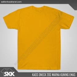 Kaos-polos-combed-20s-Kuning-Emas