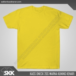 Kaos-polos-combed-20s-Kuning-Kenari