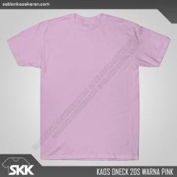 Kaos-polos-combed-20s-Pink