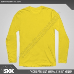 Lengan-panjang-polos-warna-Kuning-Kenari