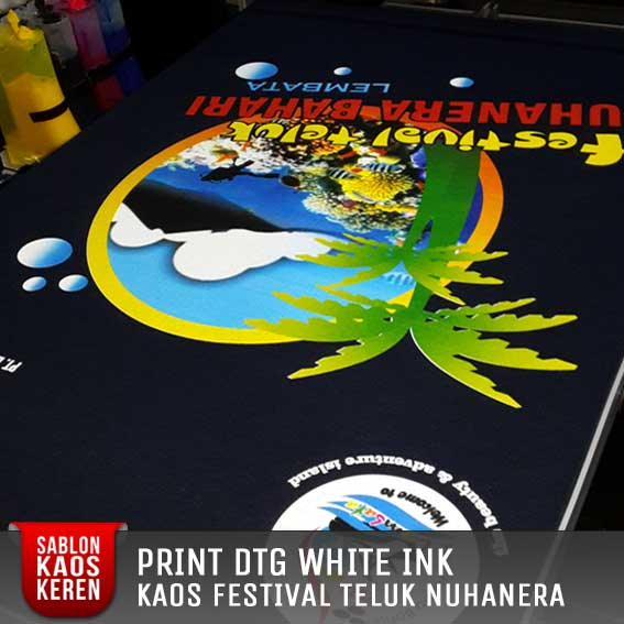 print kaos dtg white ink