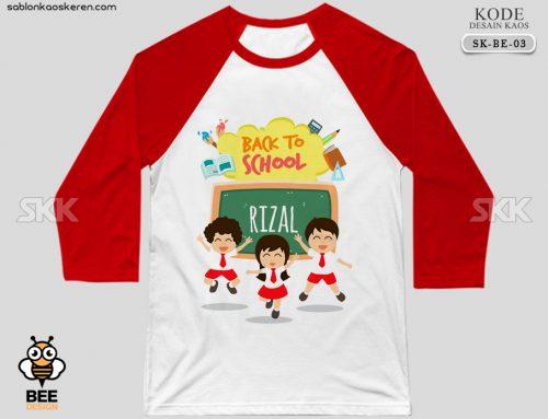 Desain Kaos Sekolah Anak SD