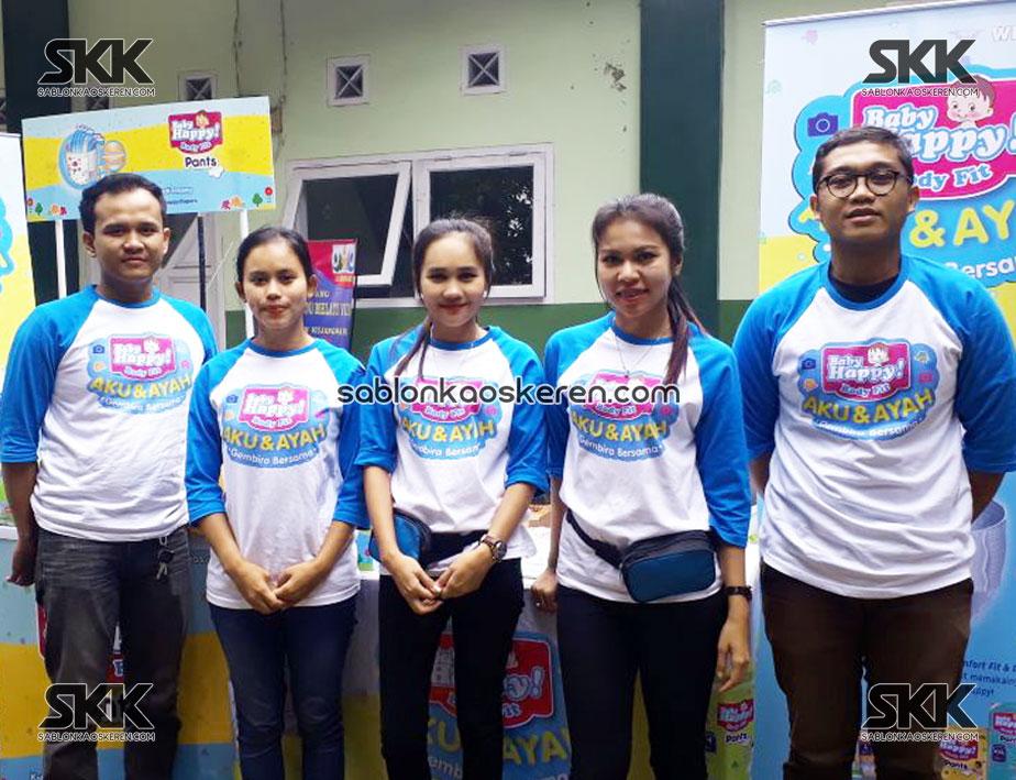 Kaos Launching Produk Baby Happy Murah
