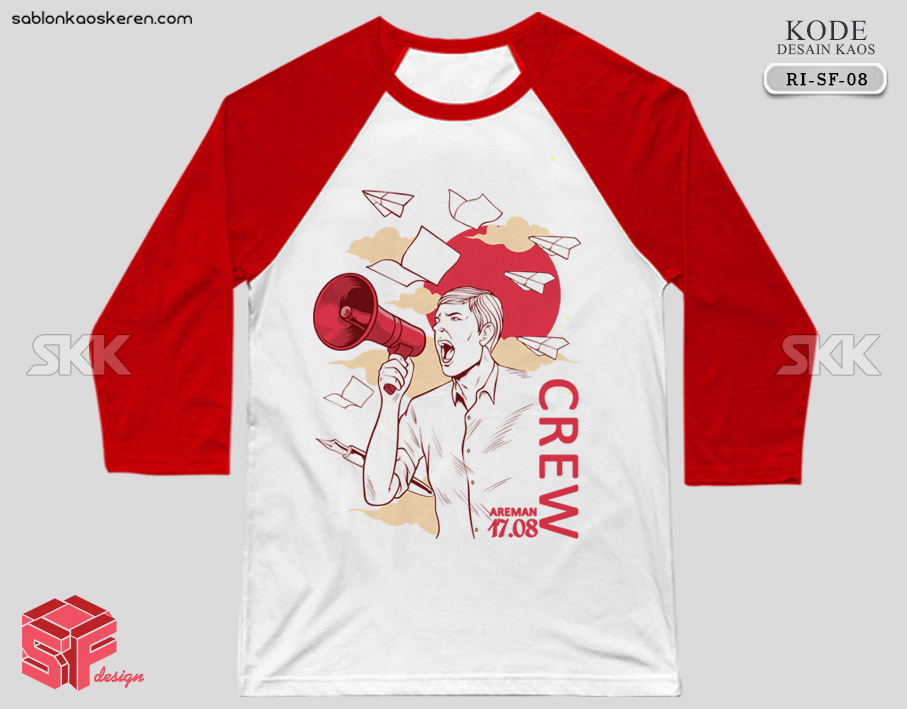 Desain Kaos Crew 17 Agustus