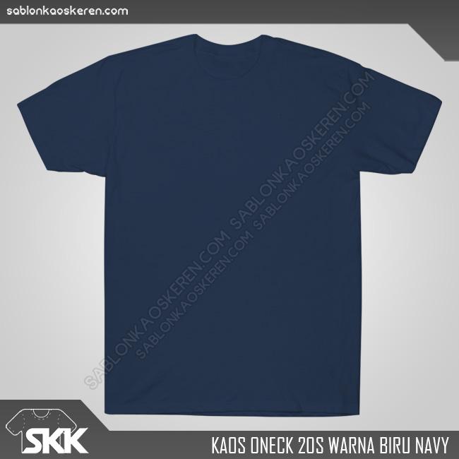 Kaos Polos Combed 20s Biru Navy