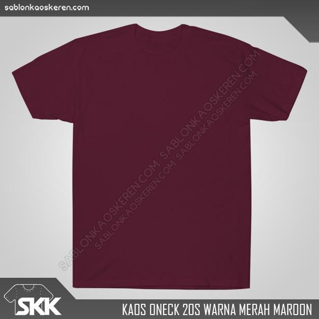 Kaos Polos Combed 20s Merah Maroon