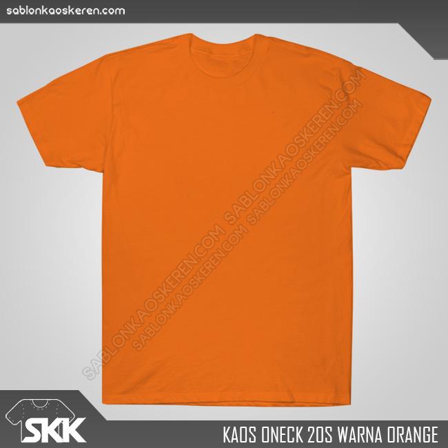 Kaos Polos Combed 20s Orange
