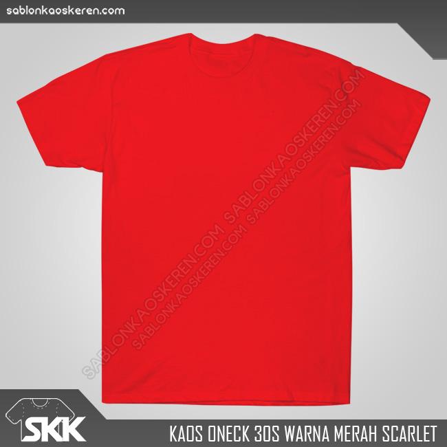 Kaos Polos Combed 30s Merah Scarlet