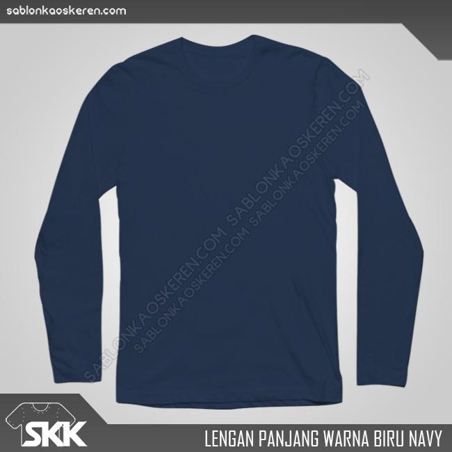 Lengan Panjang Warna Biru Navy