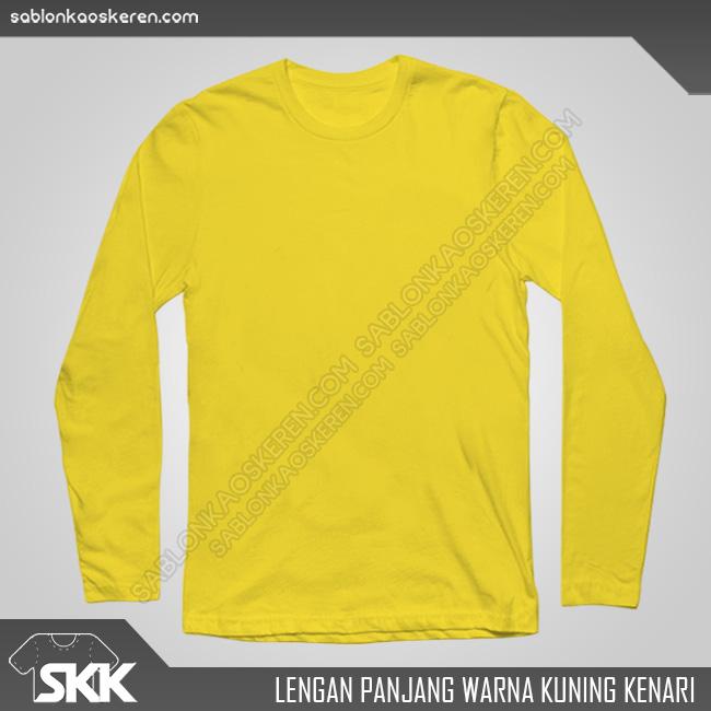 Lengan Panjang Warna Kuning Kenari