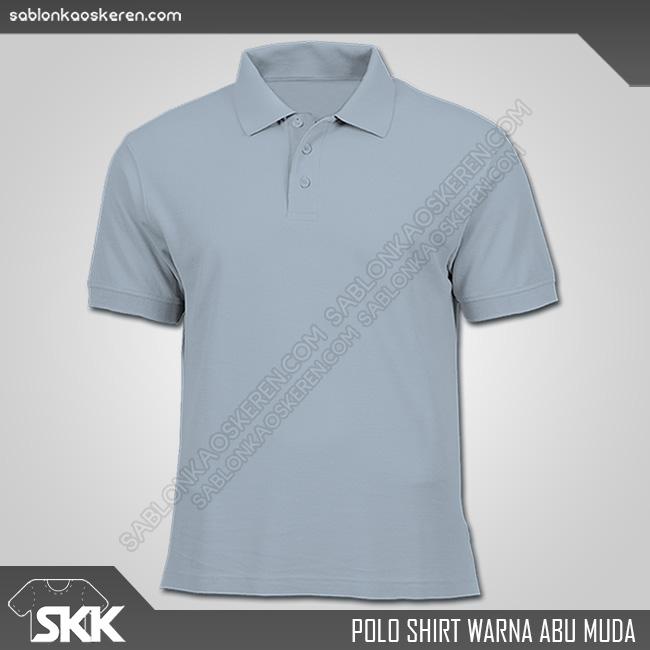 Polo Shirt Warna Abu Muda