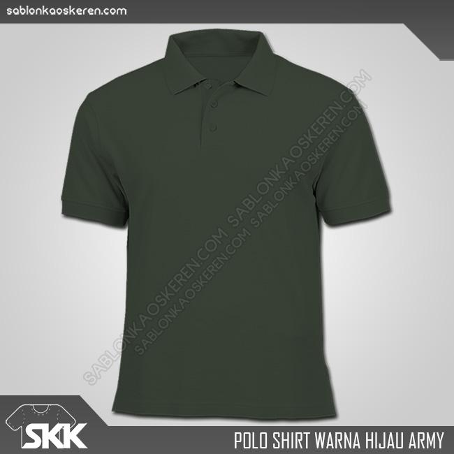 Polo Shirt Warna Hijau Army