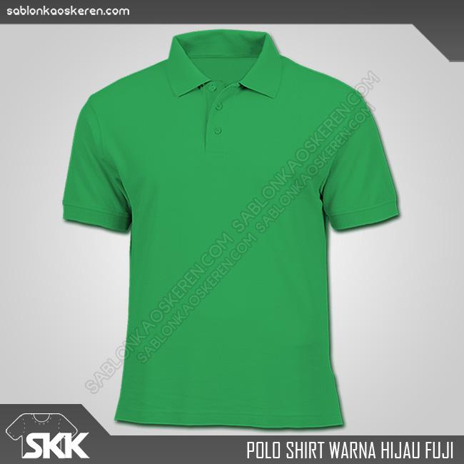 Polo Shirt Warna Hijau Fuji