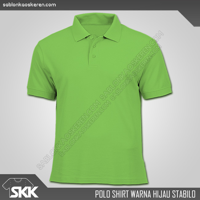 Polo Shirt Warna Hijau Stabilo