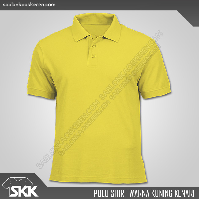 Polo Shirt Warna Kuning Kenari