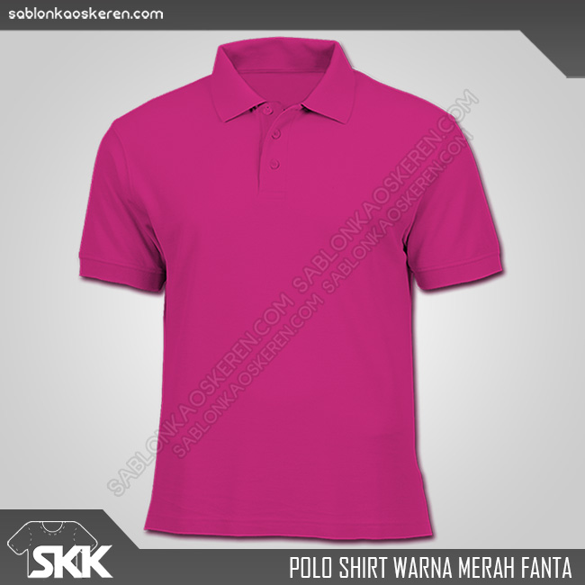 Polo Shirt Warna Merah Fanta