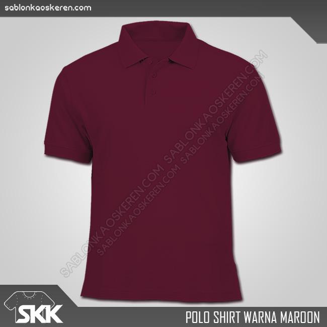Polo Shirt Warna Merah Maroon