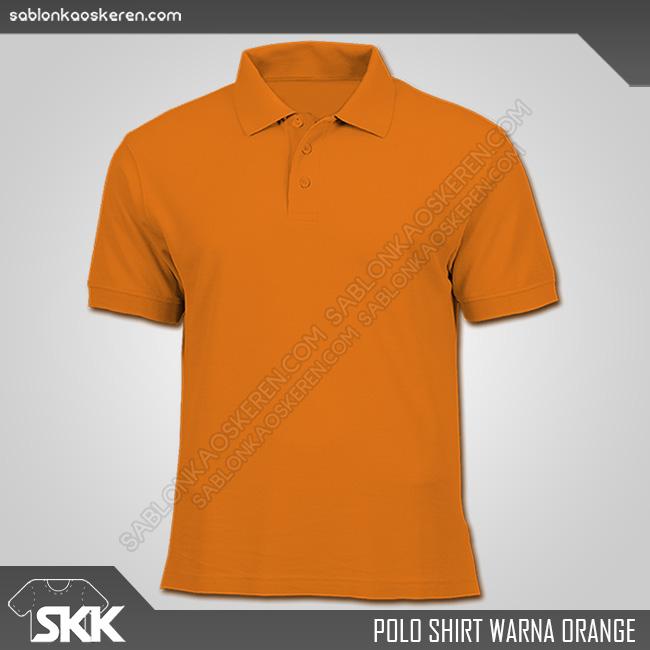 Polo Shirt Warna Orange