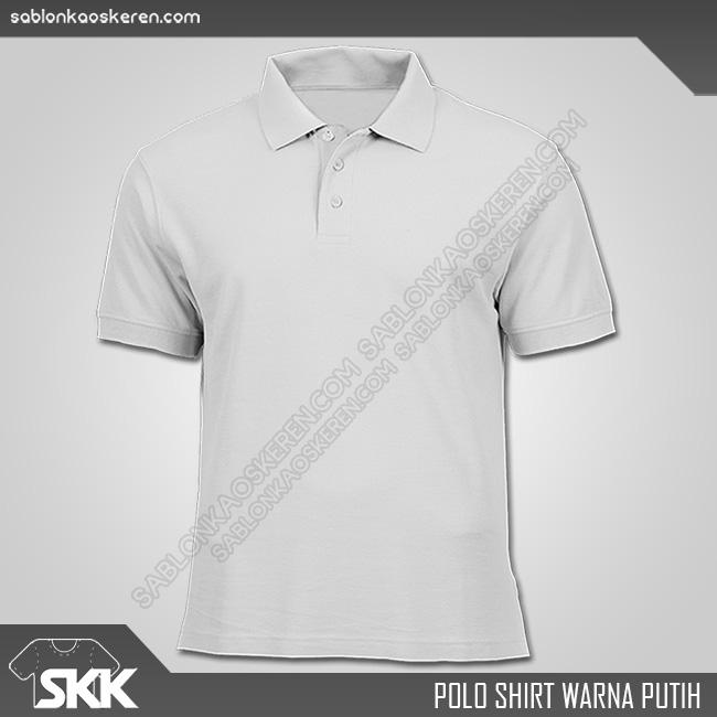 Polo Shirt Warna Putih