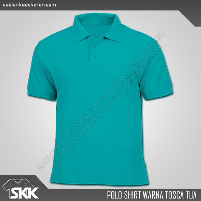 Polo Shirt Warna Tosca Tua
