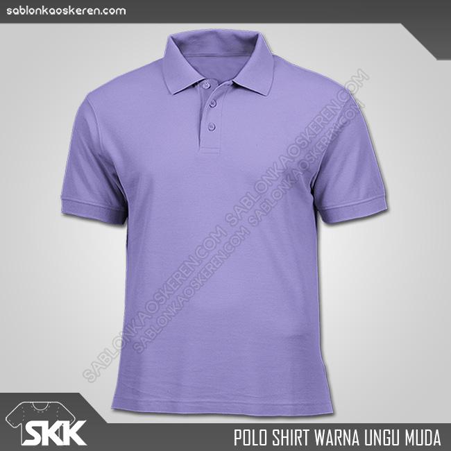 Polo Shirt Warna Ungu Muda