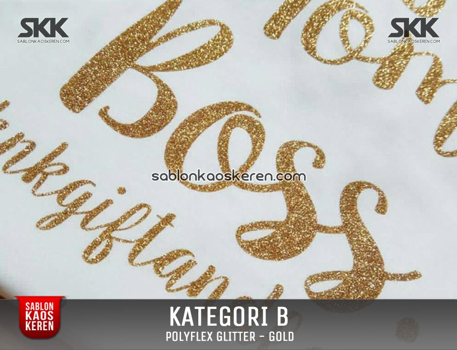 Print Polyfex Glitter Gold