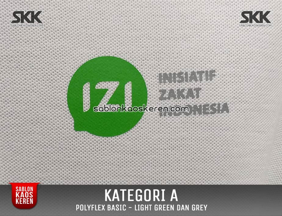 Print Polyfex Light Green And Grey