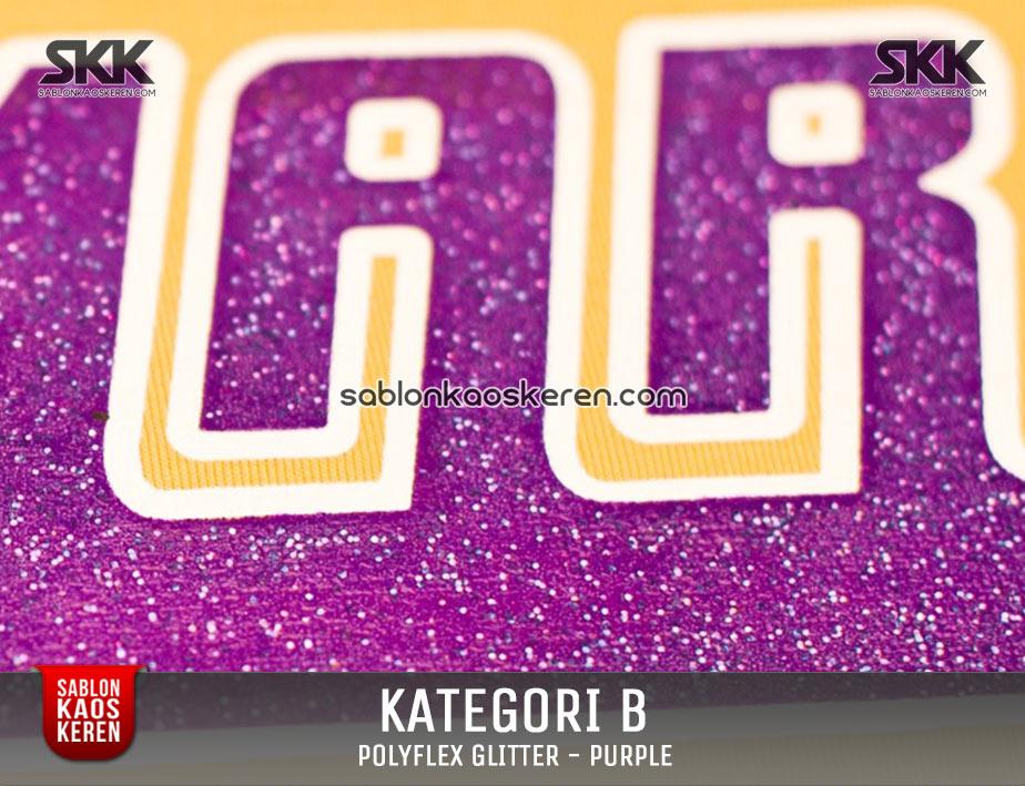 Sablon Polyfex Glitter Purple