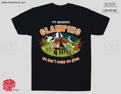 Desain Kaos Untuk Glamping