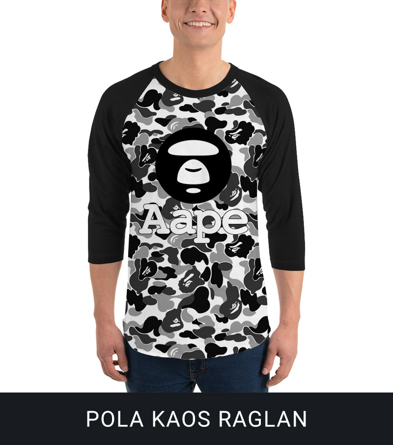 Model Kaos Fullprint Raglan