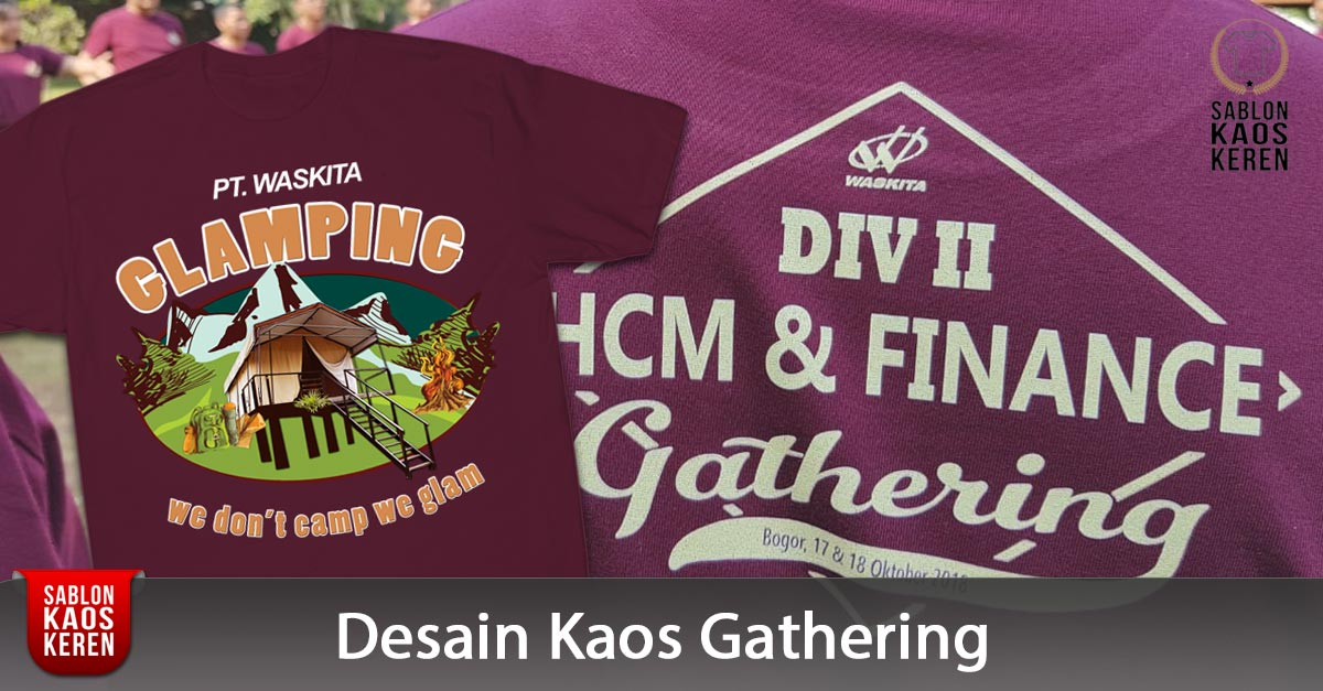 Banner Desain Kaos Gathering