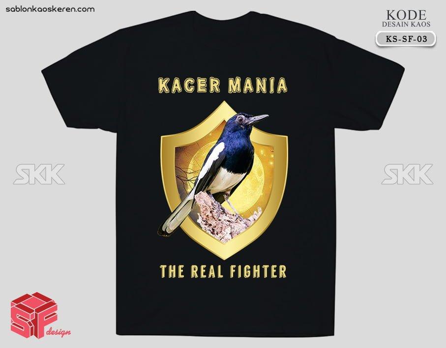 Desain Kaos Burung Kacer