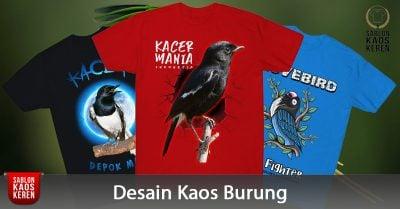 Desain Kaos Burung Keren