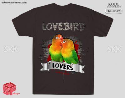 Desain Kaos Burung Lovebird