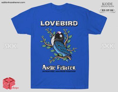 Kaos Gambar Burung Lovebird