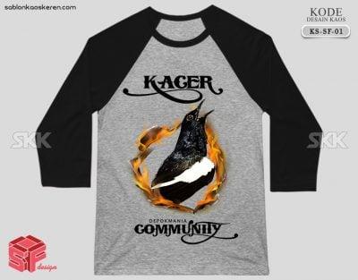 Kaos Komunitas Burung Kacer