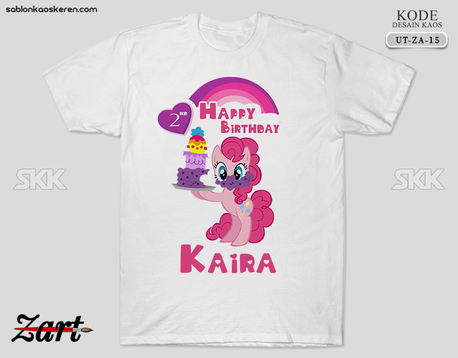 Kaos Birthday Little Pony