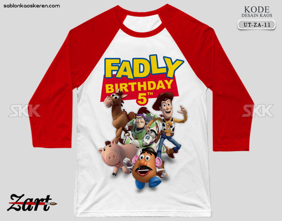 Kaos Birthday Toy Story