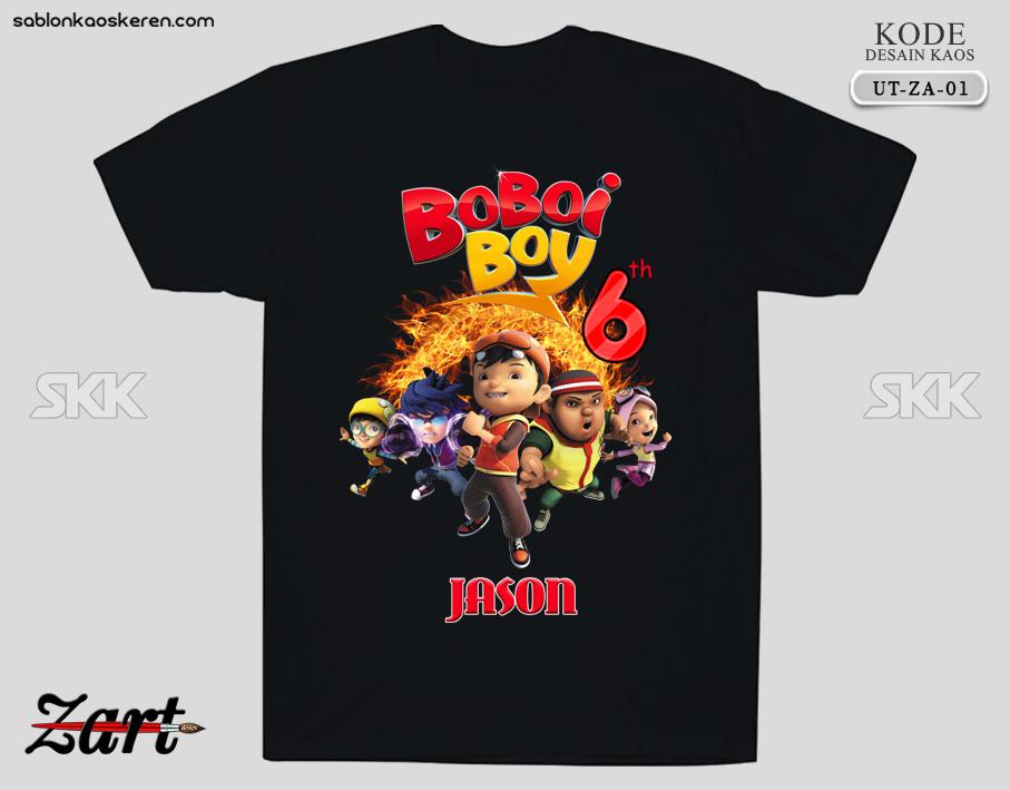 Kaos Ulang Tahun Boboiboy