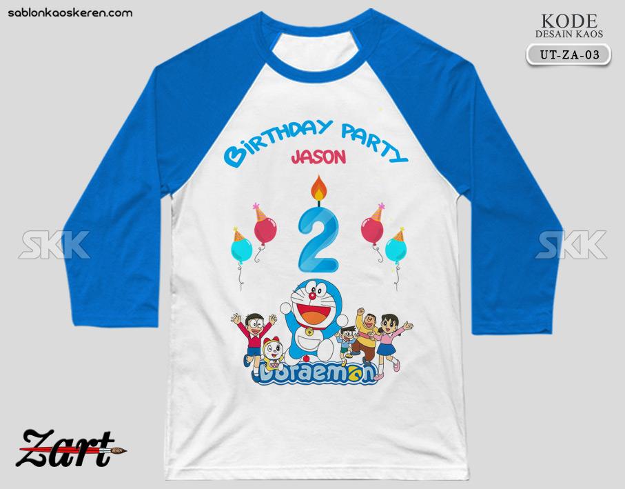 Kaos Ulang Tahun Doraemon