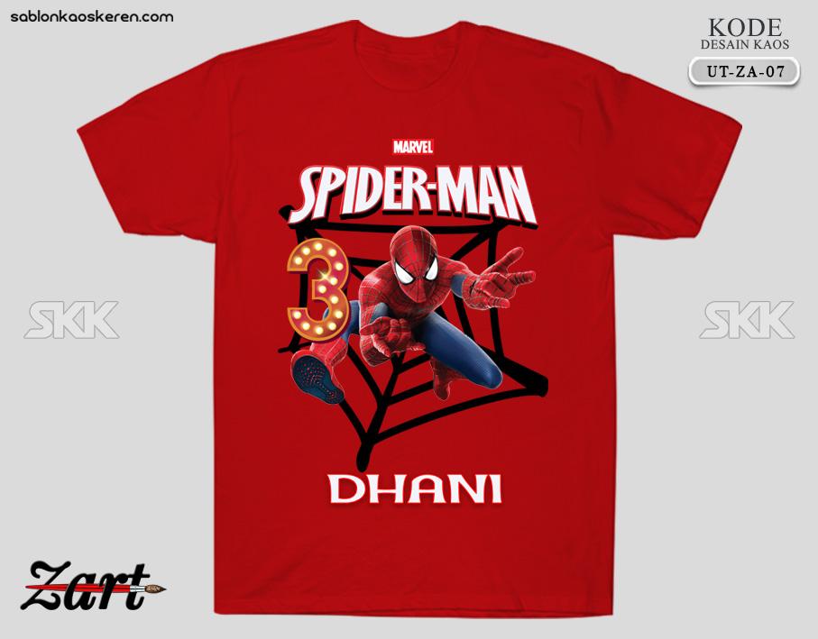 Kaos Ulang Tahun Spiderman