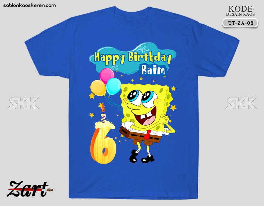 Kaos Ulang Tahun Spongebob