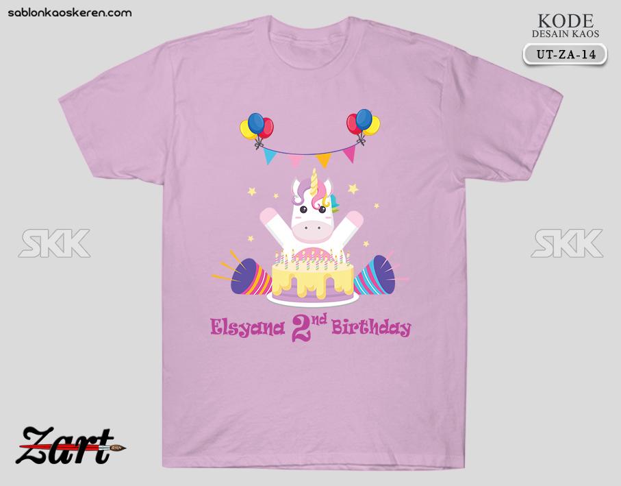 Kaos Ulang Tahun Unicorn