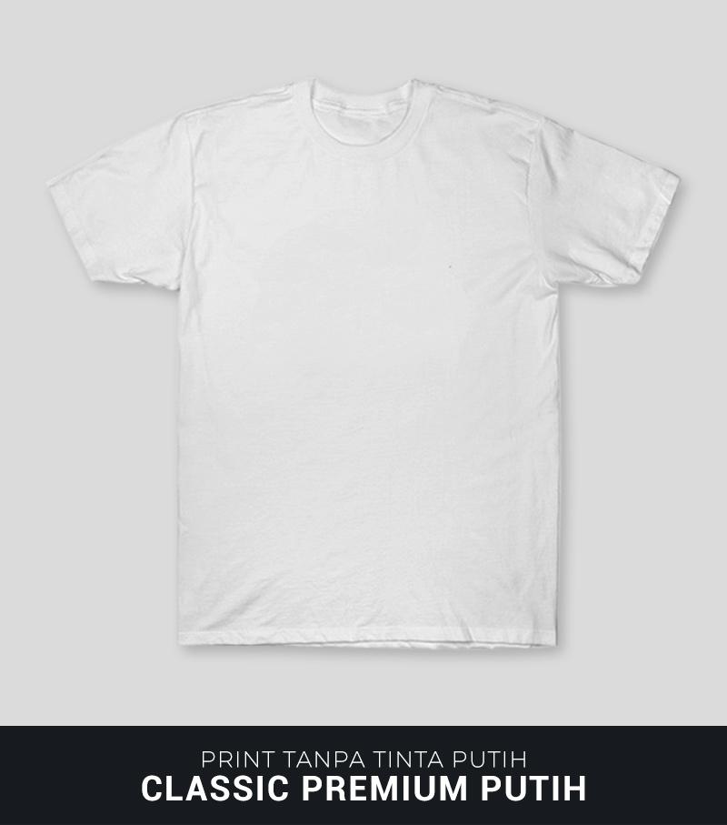 Sablon Kaos DTG Di Kaos Classic Premium Putih